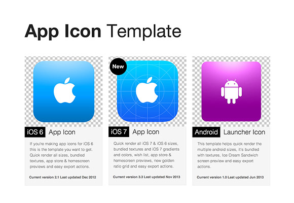 App icon templates freebiesbug maxwellsz