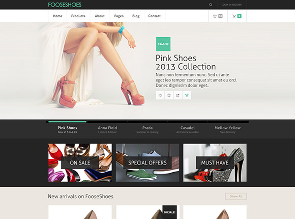 ecommerce psd template freebiesbug - Free Ecommerce Website Templates