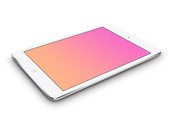 5 iPad mini PSD mockups
