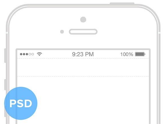 iPhone5S wireframe mockup