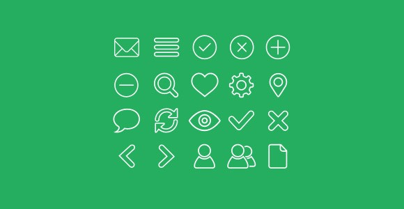 Here is a set of 20 free vector shaped outline icons