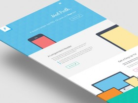 Perth - Flat website template