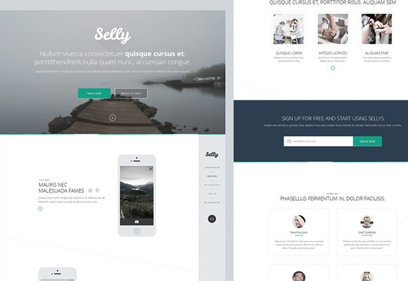 Selly - Clean PSD landing page