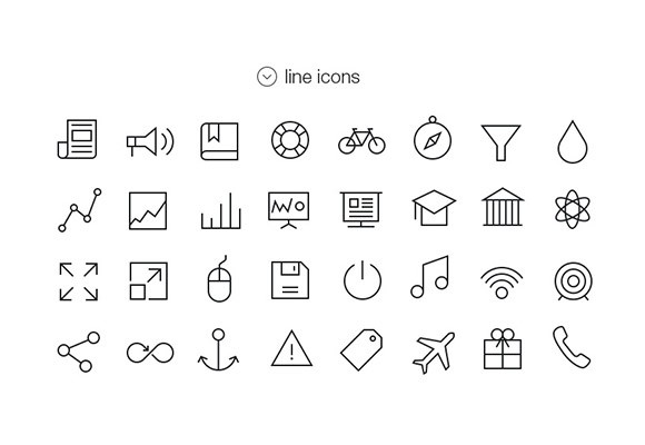 Tab bar icons for iOS7 - Vol4