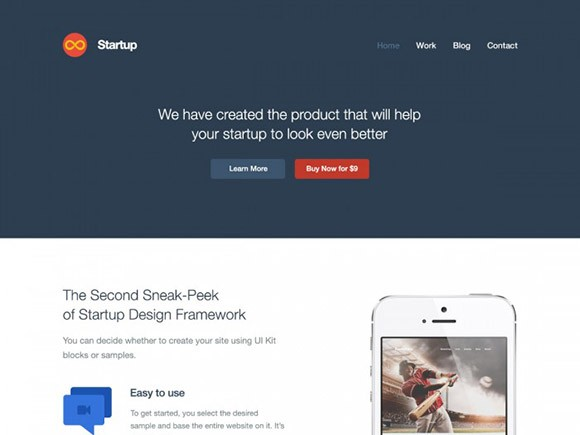 Startup Website Template PSD Freebiesbug - Create web page template