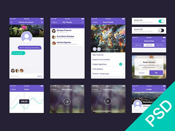 UI set for app design PSD
