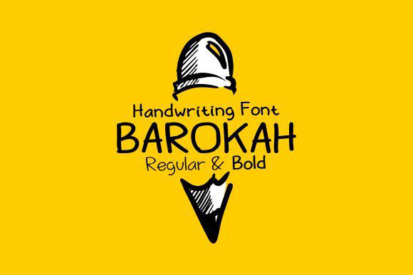 Barokah - Free handwriting font