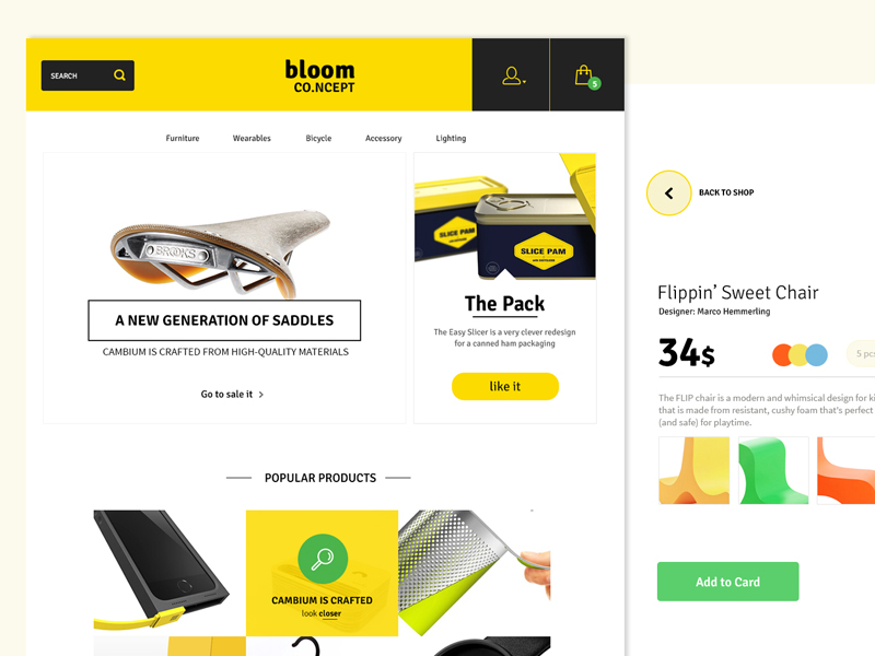 Bloom Ecommerce PSD Theme Freebiesbug - Buy ecommerce website templates
