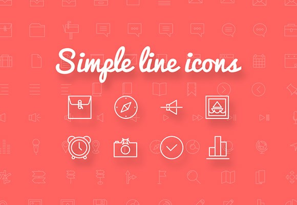 Simple Line Icons - 100+ free icons