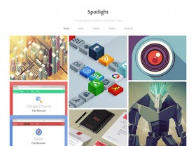 Spotlight - Free portfolio WordPress theme