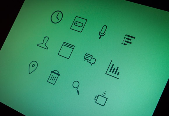 Teal icons - 12 free PSD icons