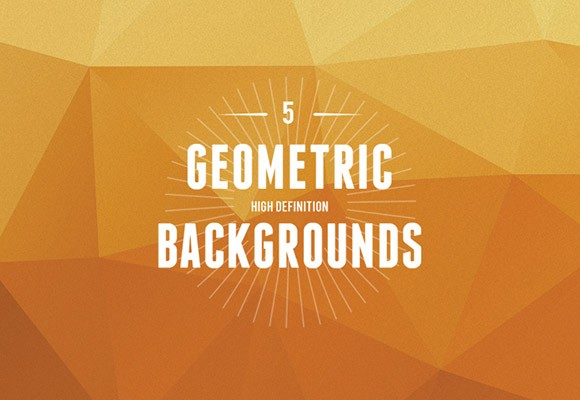 5 Geometric backgrounds JPG + AI