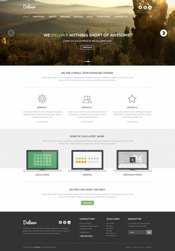 Deliver PSD theme