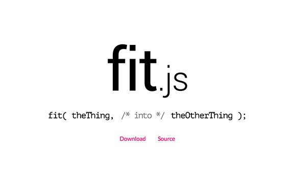 Fit.js - Fit things into other things