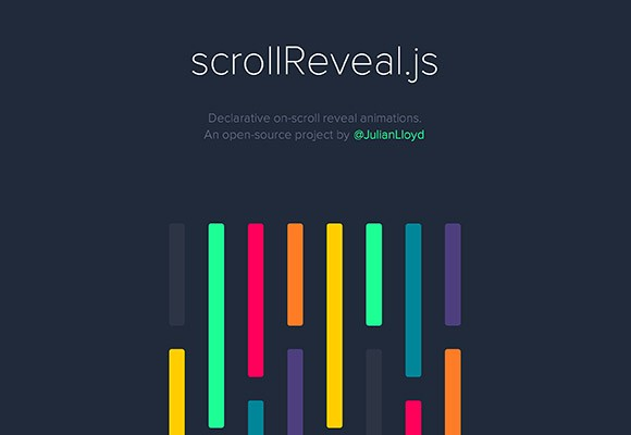 scrollReveal.js - On-scroll reveal animations with JS