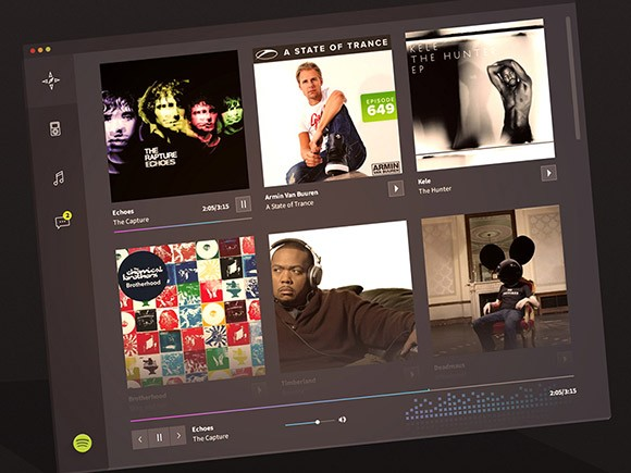 Spotify redesigned - PSD concept