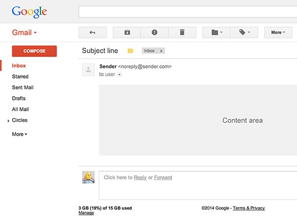 Gmail UI PSD template - Freebiesbug