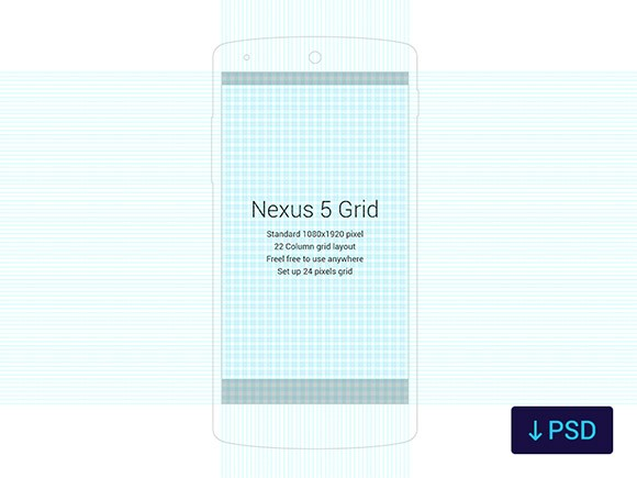 Nexus 5 grid template
