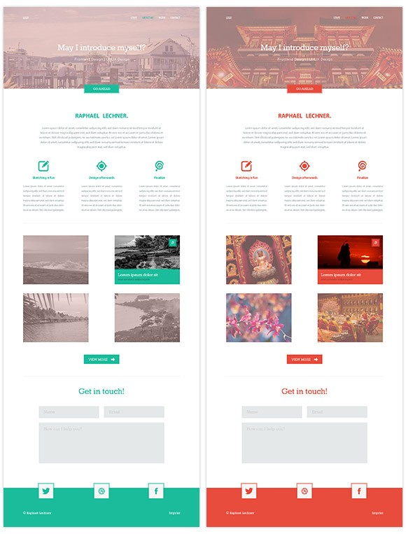 Variety - Free PSD website template - Freebiesbug