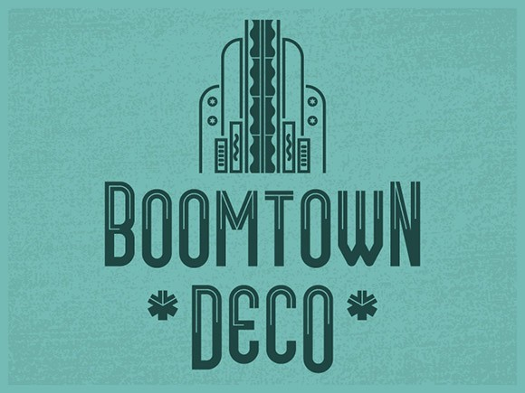 Boomtown Deco free font