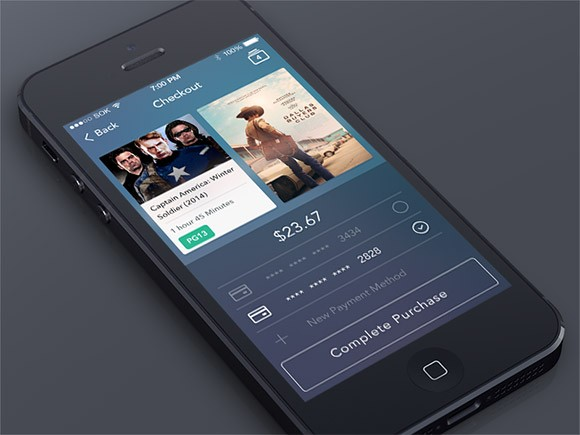 Checkout screen app PSD