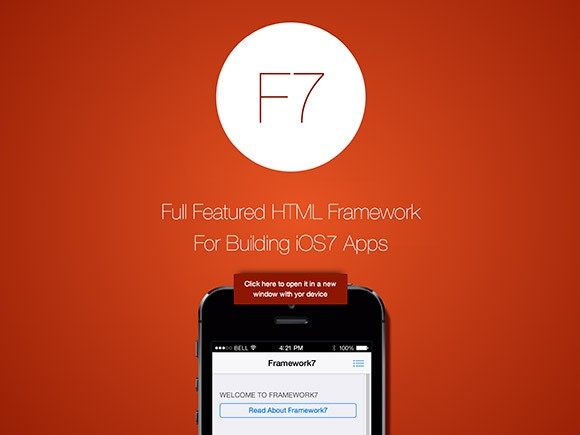 Framework7 - HTML framework for iOS7 apps