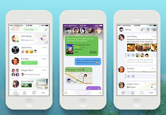 Smart chat app PSD