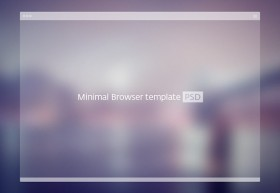 Transparent browser mockup PSD