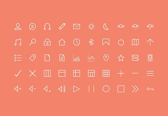 50 free stroke icons