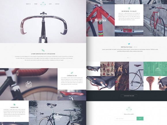 Bicycle - Flat one-page template
