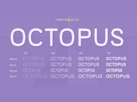 Octopus free font family + Webfont