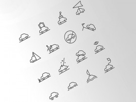 16 weather situations icons PSD