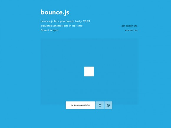 Bounce.js - CSS3 animations generator