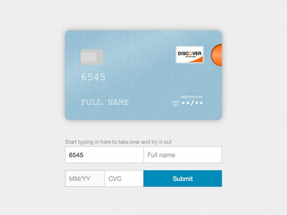 Credit card form - JS plugin