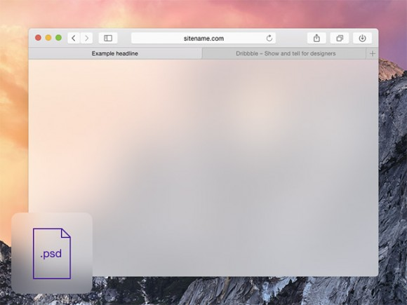 Safari browser mockup OSX 10.10