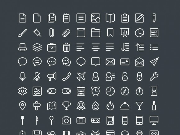 440 free icons - PSD + EPS + Sketch
