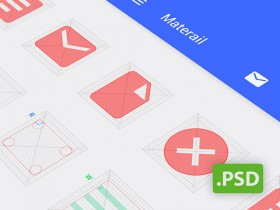 Android grids PSD template
