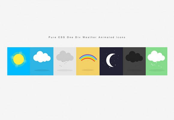 Weather animated icons CSS