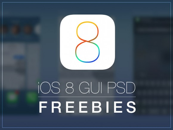 Free iOS8 GUI – Free PSD download