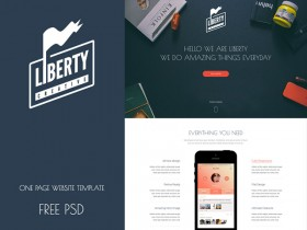 Liberty - One page template PSD