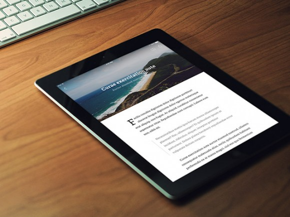 RSS Reader app - PSD