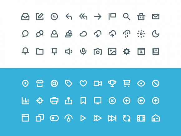Vicons - 60 free PSD icons