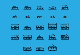71 transportation icons AI