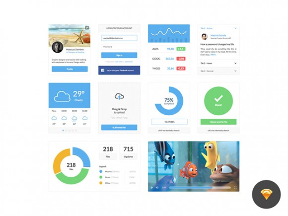 Clean UI Kit - Sketch