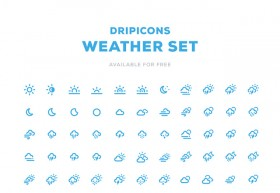 Dripicons - Weather icon set