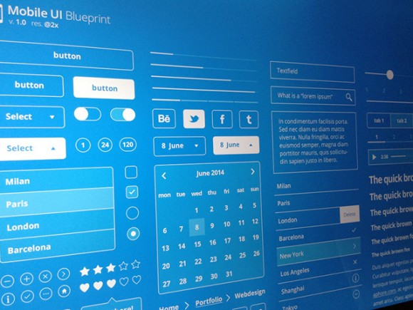 Mobile ui blueprints psd freebiesbug mobile ui blueprints psd malvernweather Choice Image