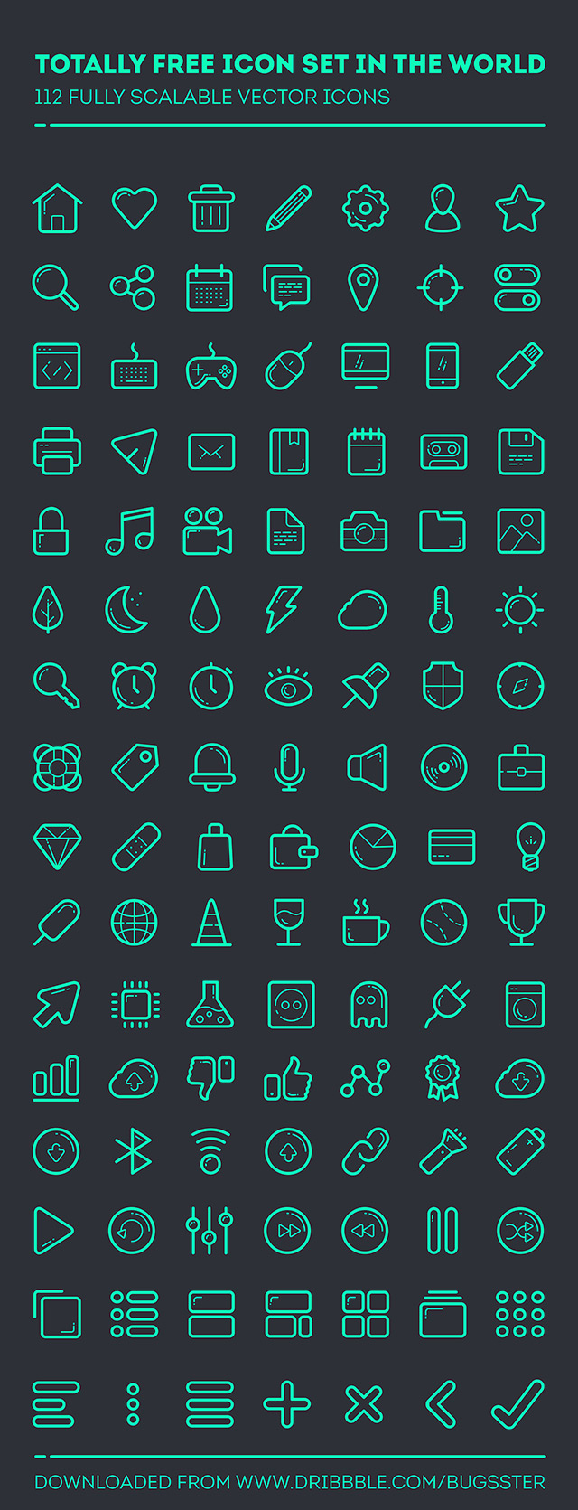 112 free PSD icons detailed