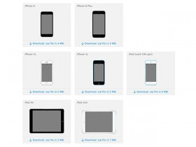 Apple Devices - Official PSD mockups