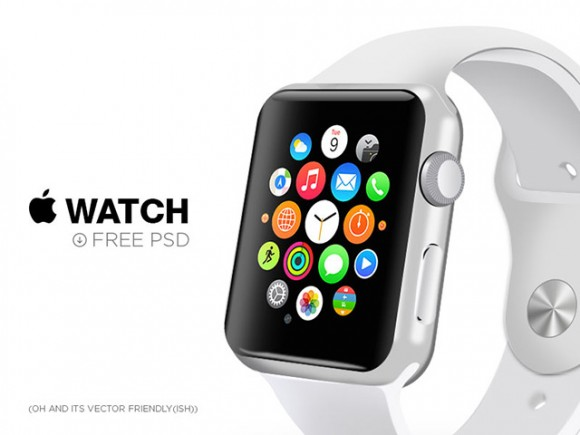 Apple Watch - Free PSD