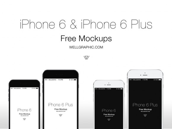 Apple iPhone 6 and iPhone 6 Plus mockups